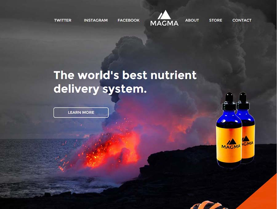 Landing Page for Magma Fit